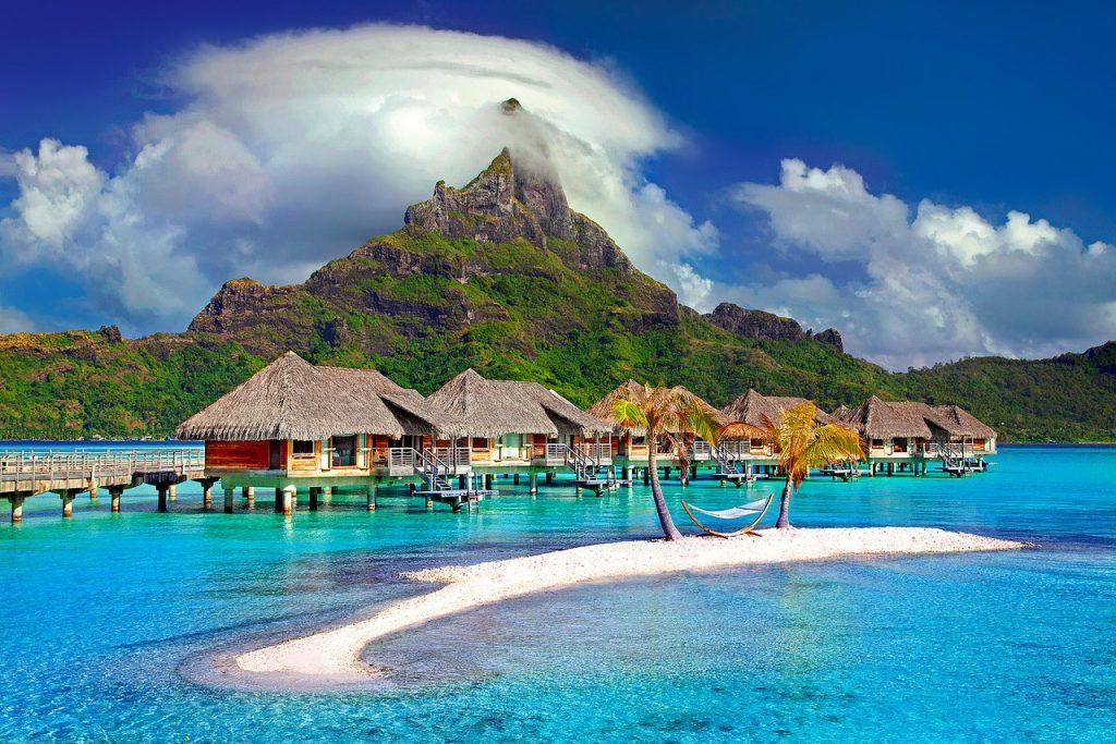 bora bora, island, caribbean