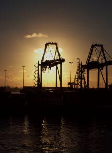 crane, derrick, rig