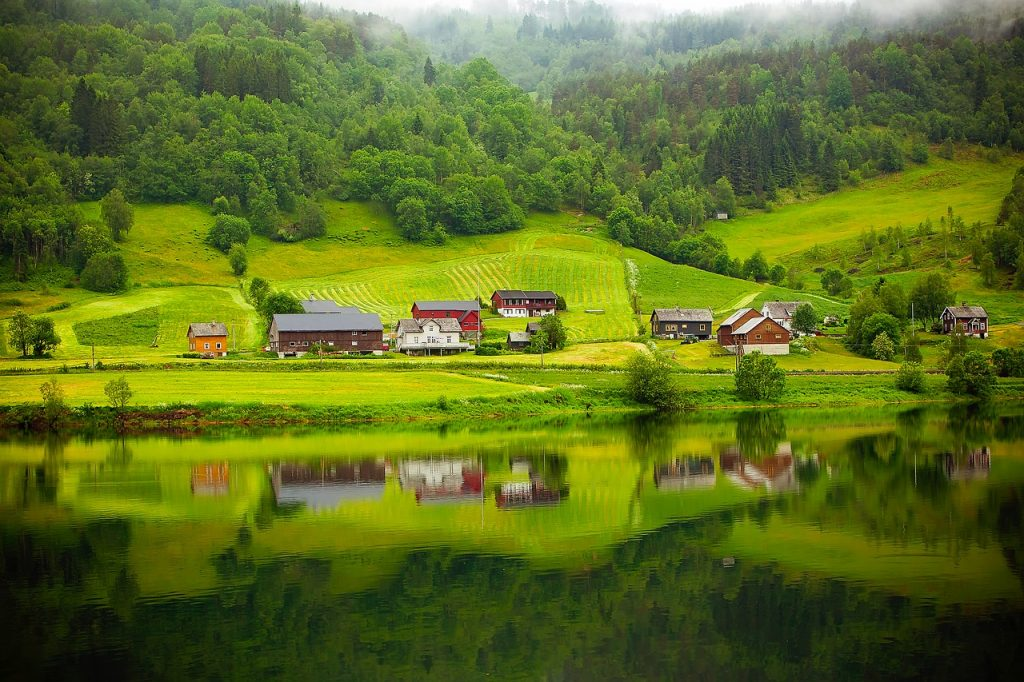 norway, fjord, river