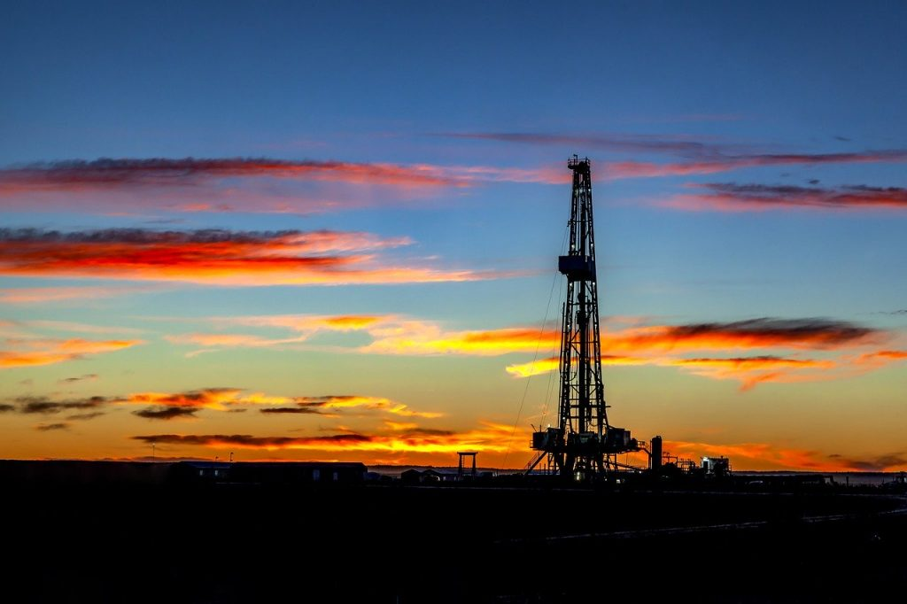 oil, derrick, rig
